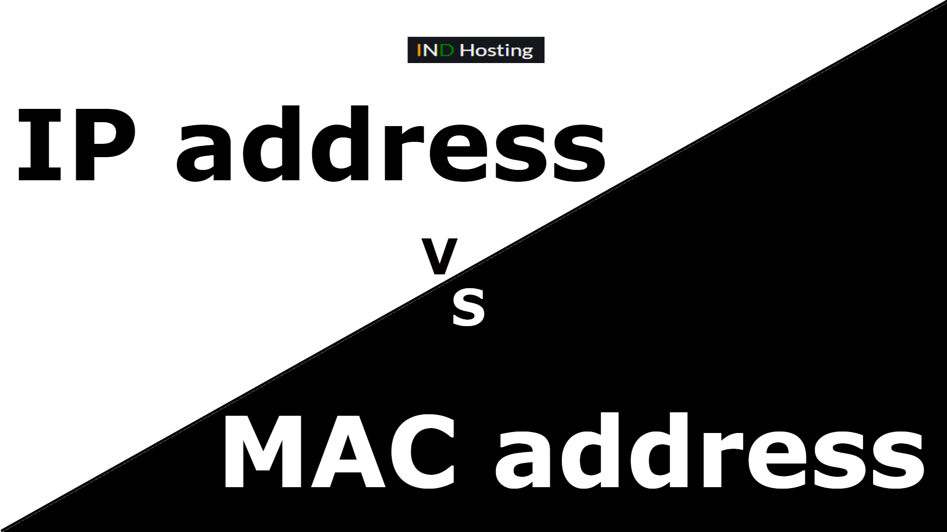 Difference between IP address and MAC address?