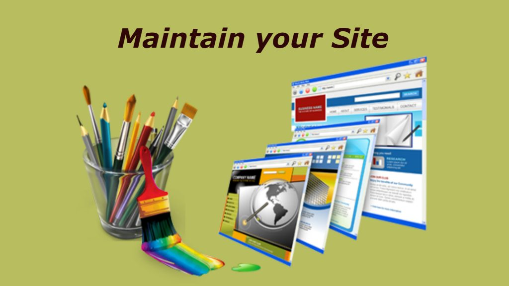 Maintain your Website: