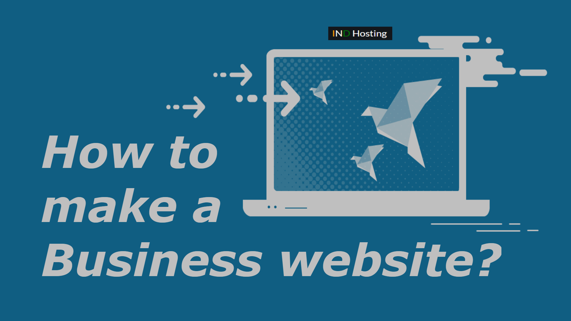 How to make a Business website?