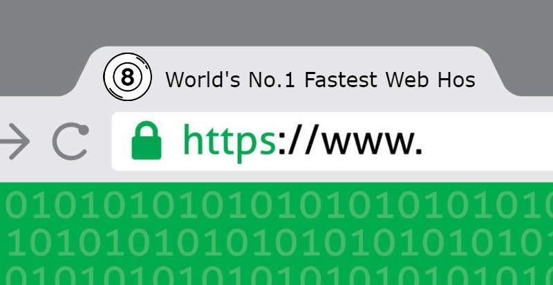 Secure Website with Trust Lock in Browser