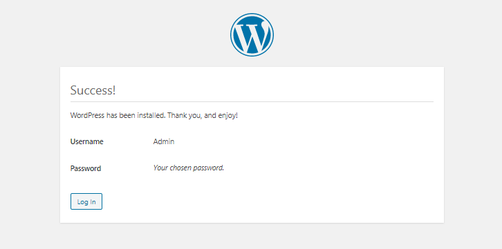 WordPress installation page 6