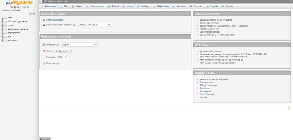 successfully phpMyAdmin installed On Ubuntu