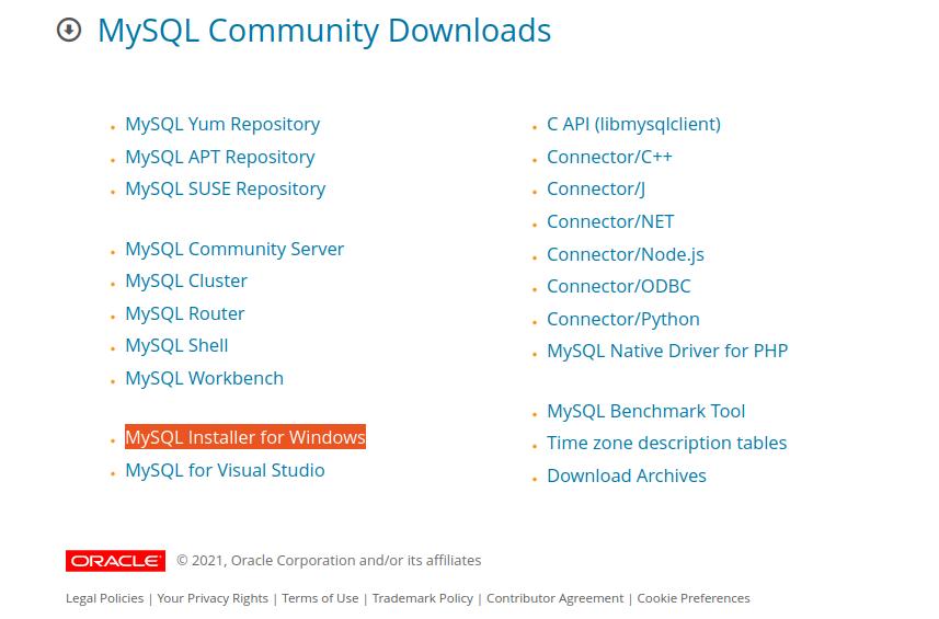 MySQL Community Downloads