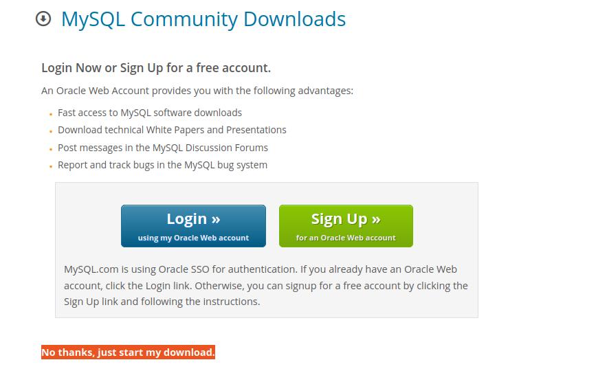 Login / No thanks, just start my download